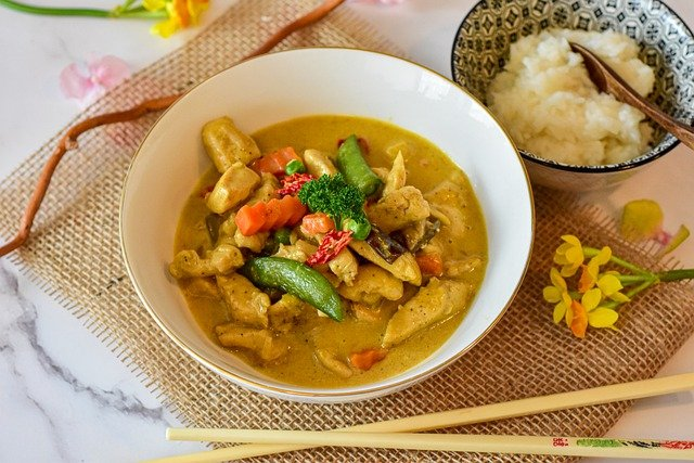 Chicken Curry Vegetables Thai Curry  - RitaE / Pixabay